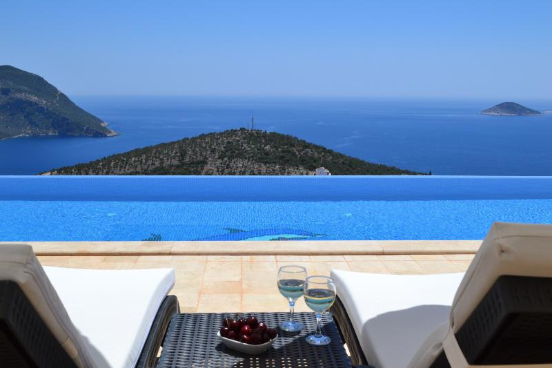 Relax on one of the villa's three large sun terraces