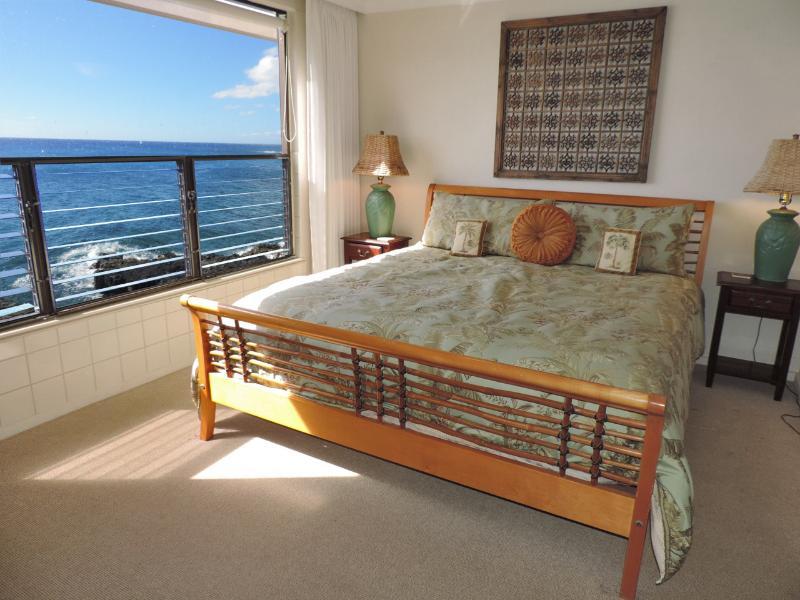 Your Master King Bedroom is direct oceanfront...fall asleep to the waves