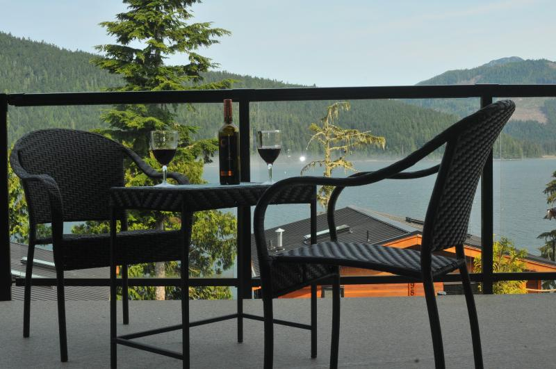 Enjoy the view with evening wine or morning coffee