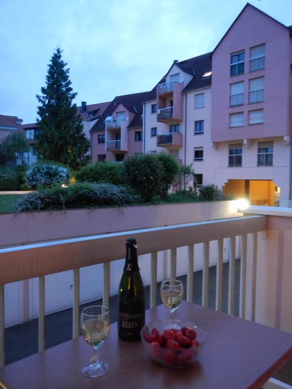 Round off a wonderful day in Alsace enjoying a glass of wine or two on the quiet balcony
