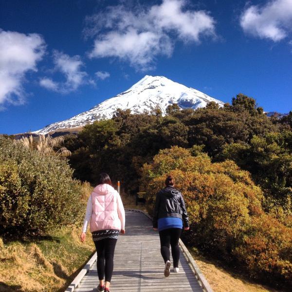 Mt Taranaki a short drive away