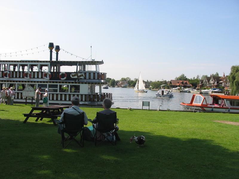 Le bateau à vapeur à Horning