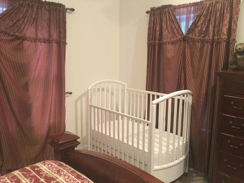 Baby crib available in Master Bedroom