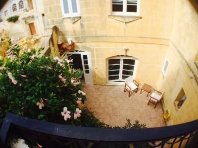 patio di corso dal balcone della casa di tramonto Agriturismo