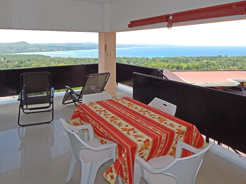 Terrace with view over Bohol
