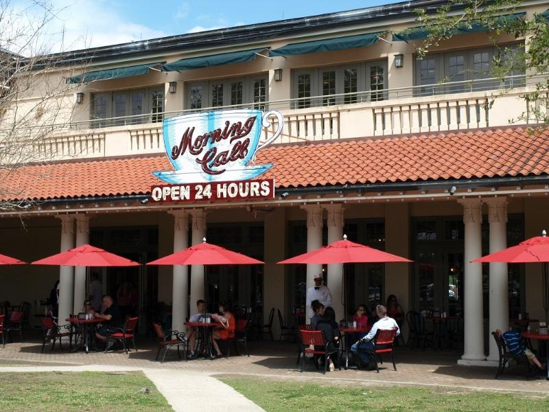 enjoy beignets and cafe au lait at City Park's Morning Call open 24 hours a day