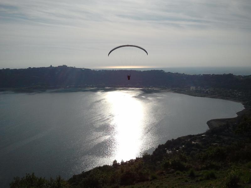 Flying over Lake Albano