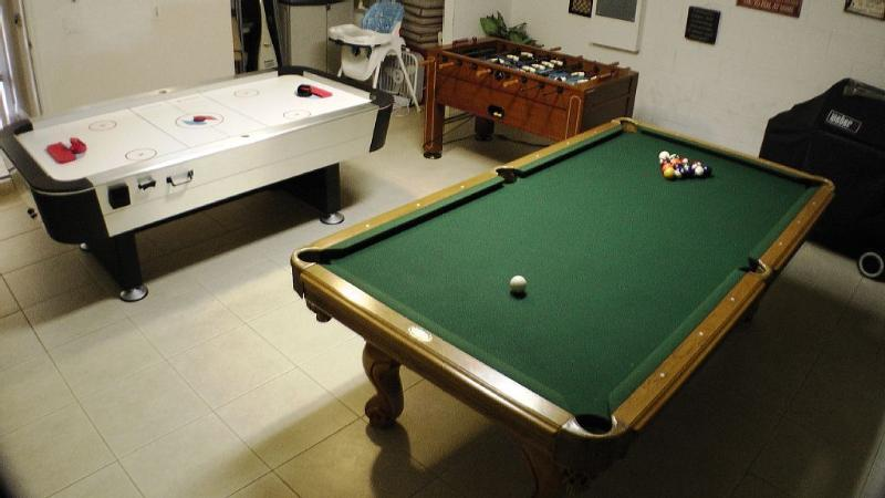 Games room with Pool Table, Air Hockey and Foozball