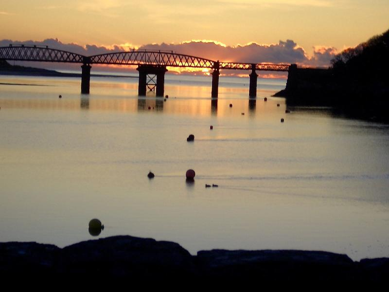 Barmouth Bridge at Sunset