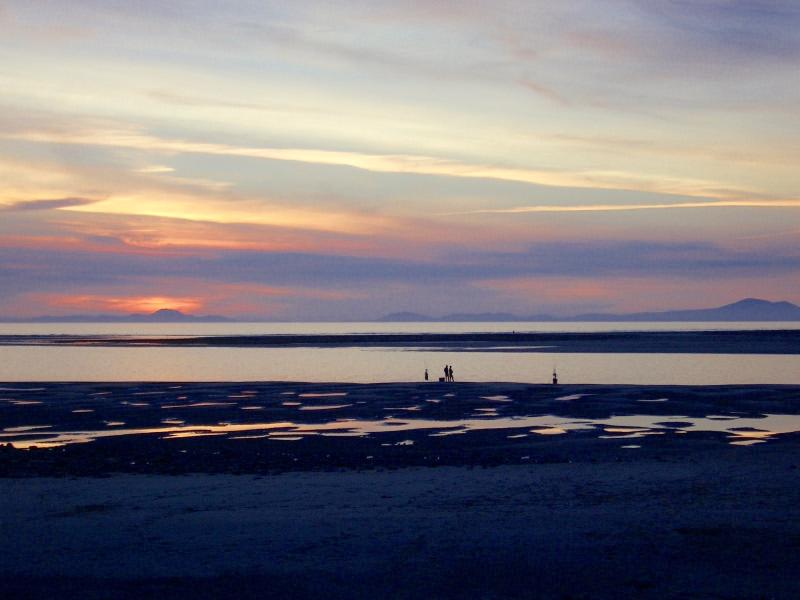 Fairbourne Blue Flag Beach at Sunset