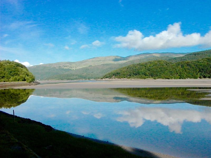 Mawddach Estuary - Mirrored Waters at Daybreak
