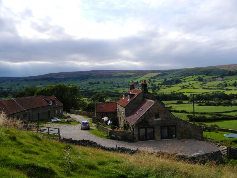 Spectacular rural views in Glaisdale dale of Bank House Farm