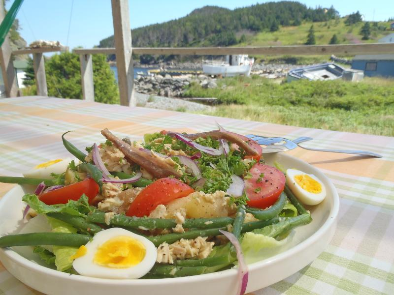 Nicoise salad.  We prepare meals on order.