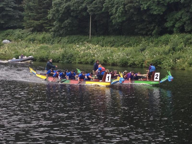Dragon boat racing on the Crinan Canal