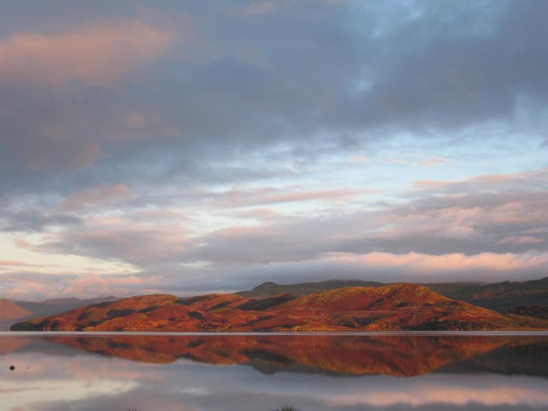 Will you be lucky enough to catch this view across the Loch?