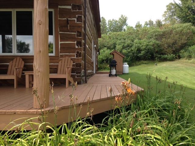 The deck on the north side of the Lodge.