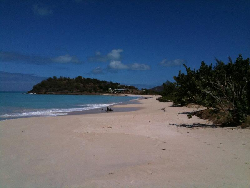 Friars Beach with Dennis's Resturant and bar on the hill