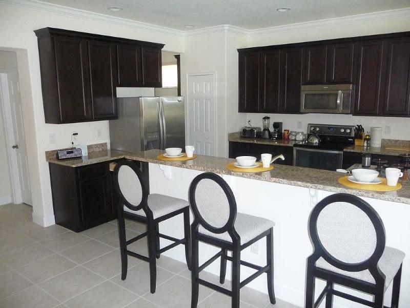 Luxury Kitchen with breakfast bar.