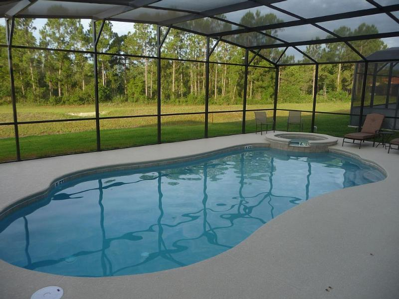 The south-facing pool view of the conservation area.