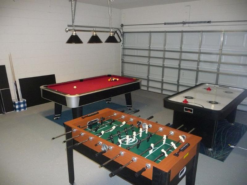 The games room with Pool, air hockey, table tennis and table football.