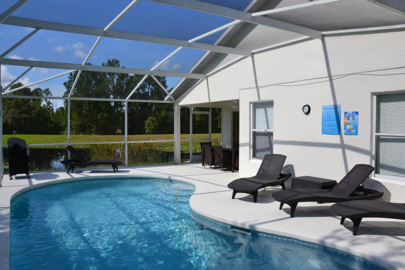 Pool area fully screened and continues sunshine