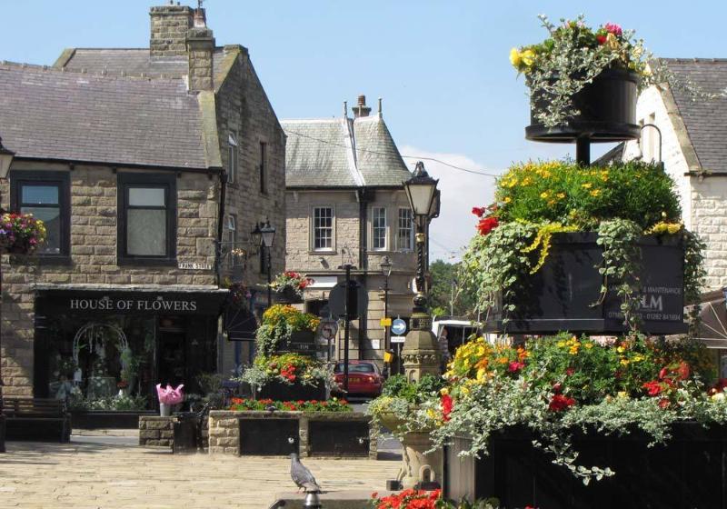 Plaza de la ciudad de Barnoldswick