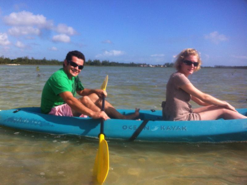 Guests enjoying the lake