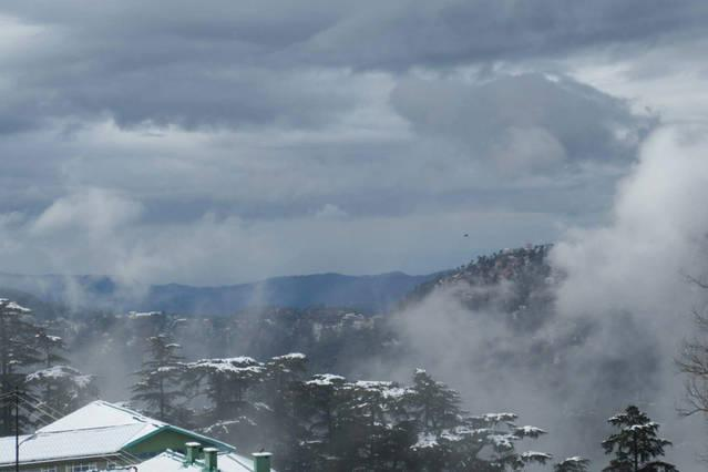 View of the Shiwalik Hills