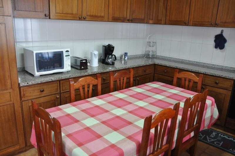 A big well equipped kitchen.