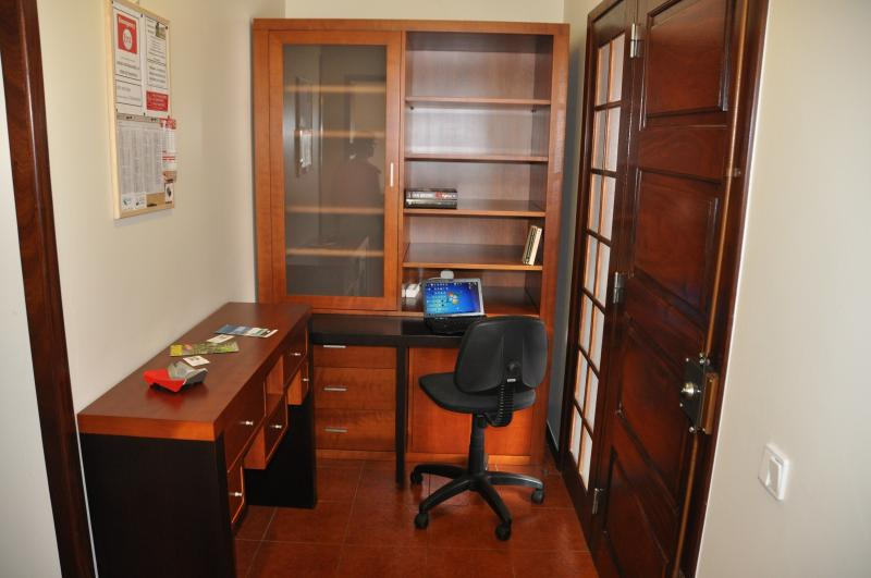 A small pleasant office where you can use your laptop, read...