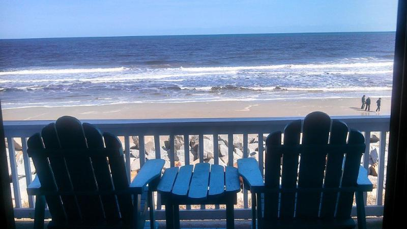 FANTASTIC oceanfront view!  Newly re-nourished beachfront.