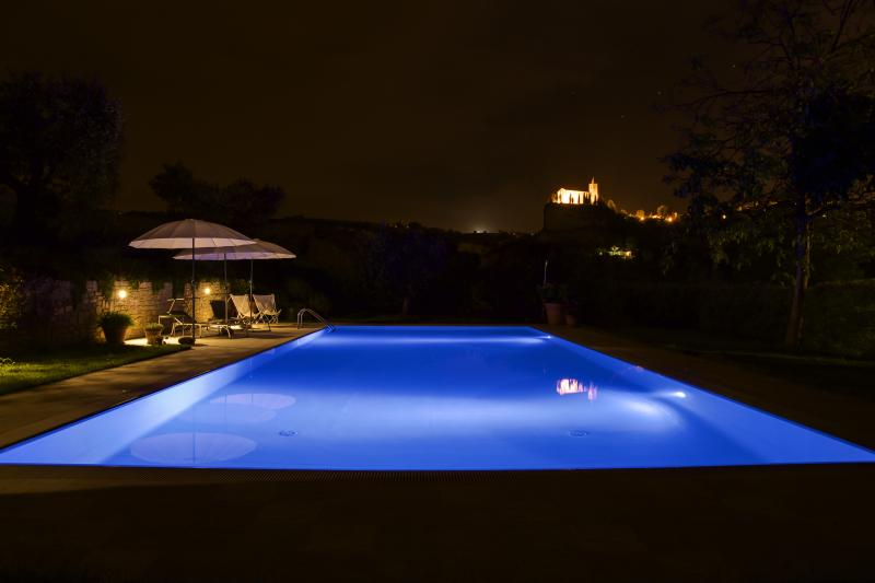 Swimming at night is really cool!