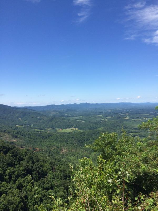 View from Lovers Leap, a couple of miles from the cabin