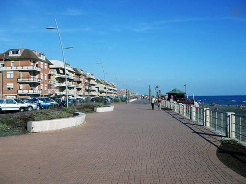 A view of the promenade of ostia