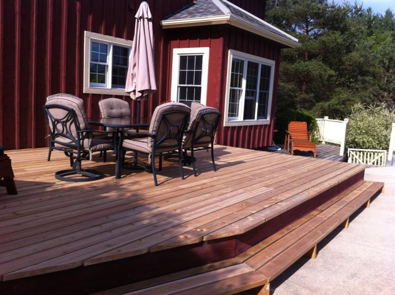 Back deck by pool