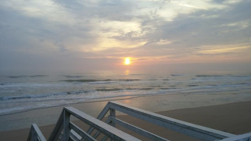 The water is steps from your own private deck from your private house on the beach.