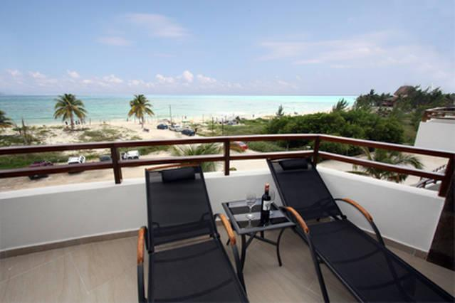 Private ocean view balcony off the living room