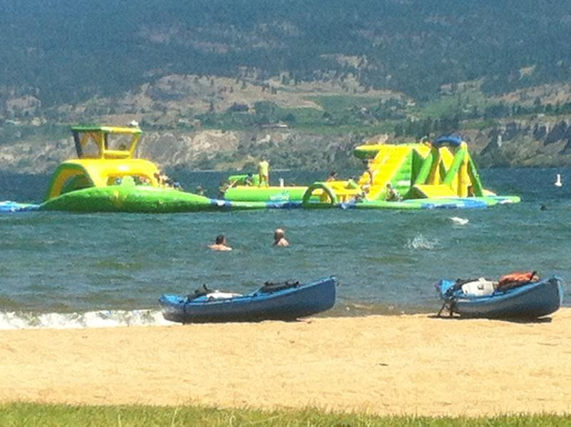 The wibbit is a fun activity on Okanagan Beach which is easy walking distance from the suite