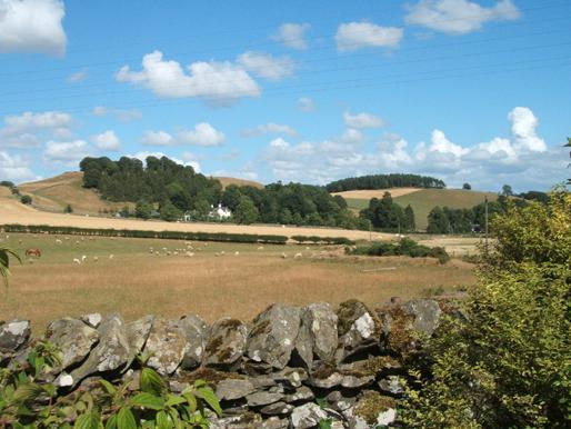 View from the front garden at Wiltonburn.