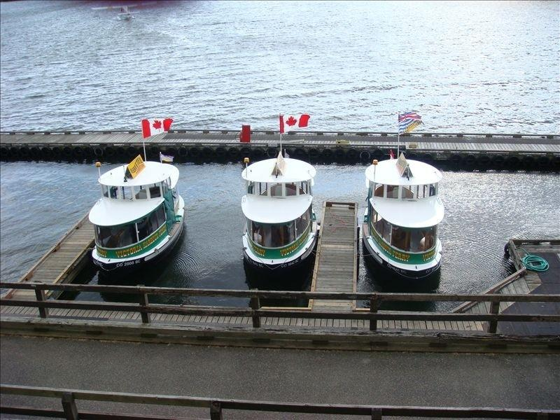 Board a water taxi for a tour then dine at one of the Inner Harbour restaurants