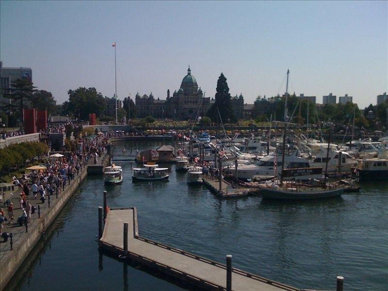 Inner Harbour on Canada Day, July 1st