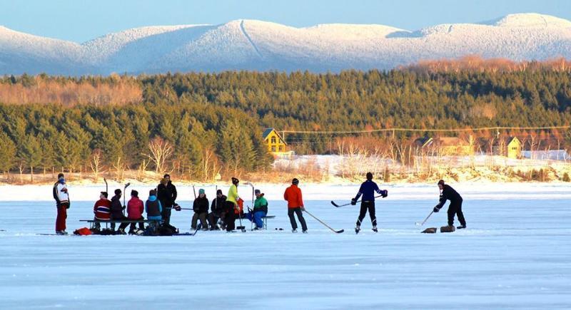 um grande número de actividades de inverno
