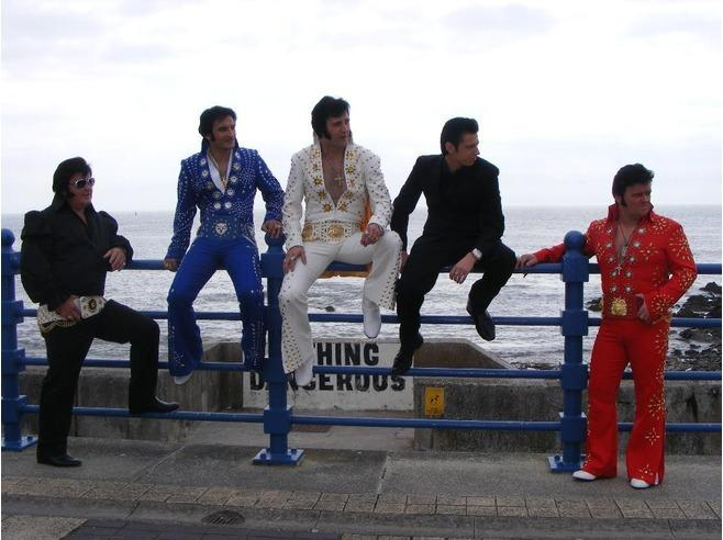 September Elvis at the Sea front.
