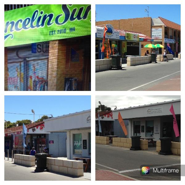 Part of the main shopping strip - Australia Day Eve 2015