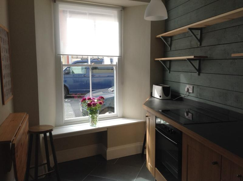 Kitchen and window to front