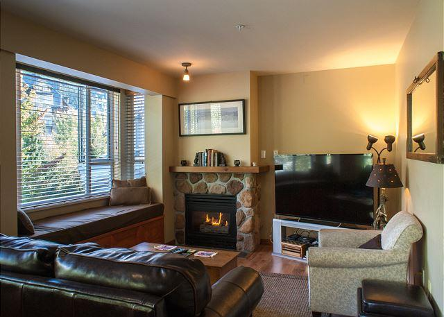 Gas fireplace and new flat screen TV Whistler vacation rental
