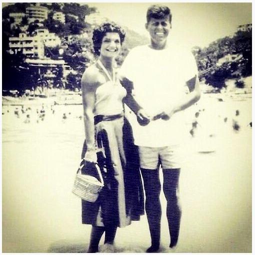 JFK honeymoon 1953