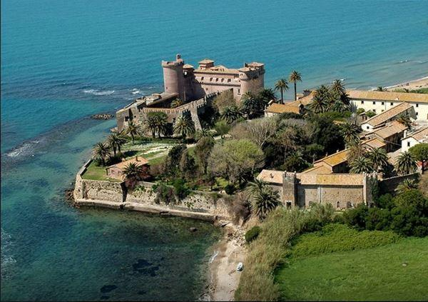 The castle of Santa Severa about 8 km from the House