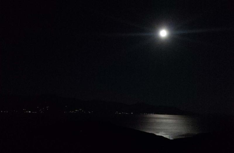Moonlight over the Golf of Karystos