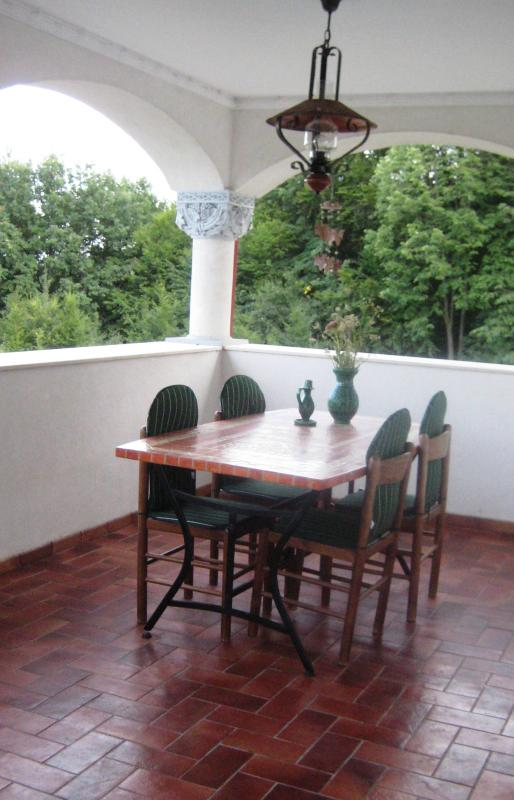 Dining table on the verandah